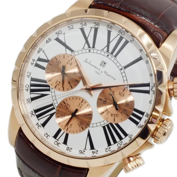 サルバトーレ マーラ SALVATORE MARRA クオーツ メンズ 腕時計 SM15103-PGWH ホワイト