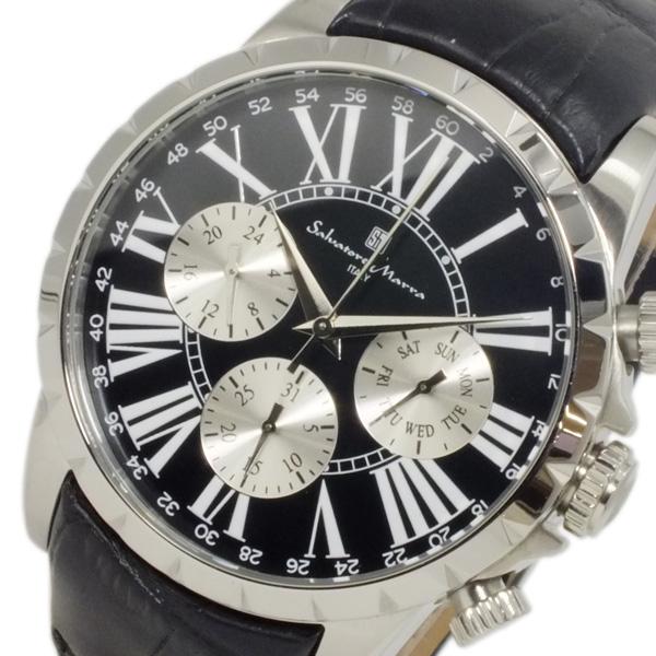 サルバトーレ マーラ SALVATORE MARRA クオーツ メンズ 腕時計 SM15103-SSBK ブラック