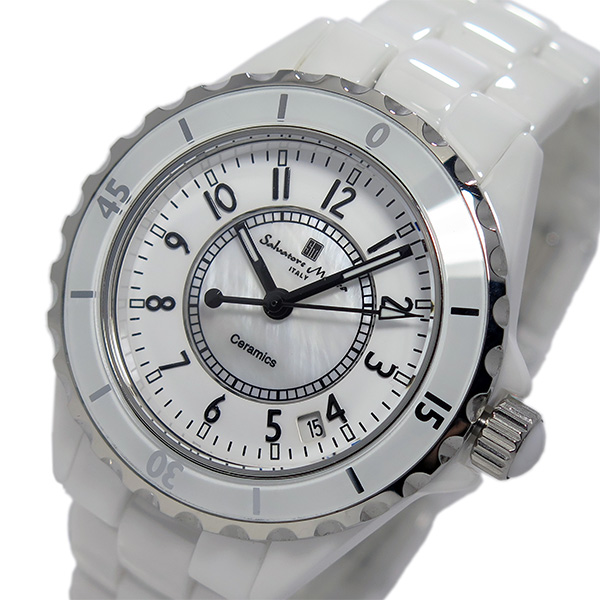 サルバトーレ マーラ SALVATORE MARRA クオーツ メンズ アラビア数字 腕時計 SM15120-WHA ホワイト