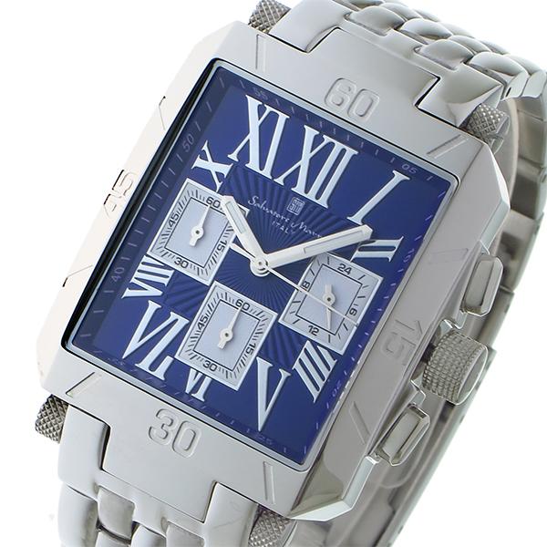 サルバトーレ マーラ SALVATORE MARRA クロノグラフ クオーツ メンズ 腕時計 SM17117-SSBLSV ブルー/シルバー