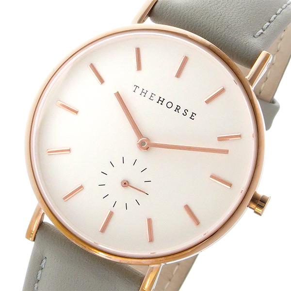 ザ ホース THE HORSE クラシック クオーツ メンズ レディース ユニセックス 腕時計 ブランド AS01-B1 ホワイト/グレー