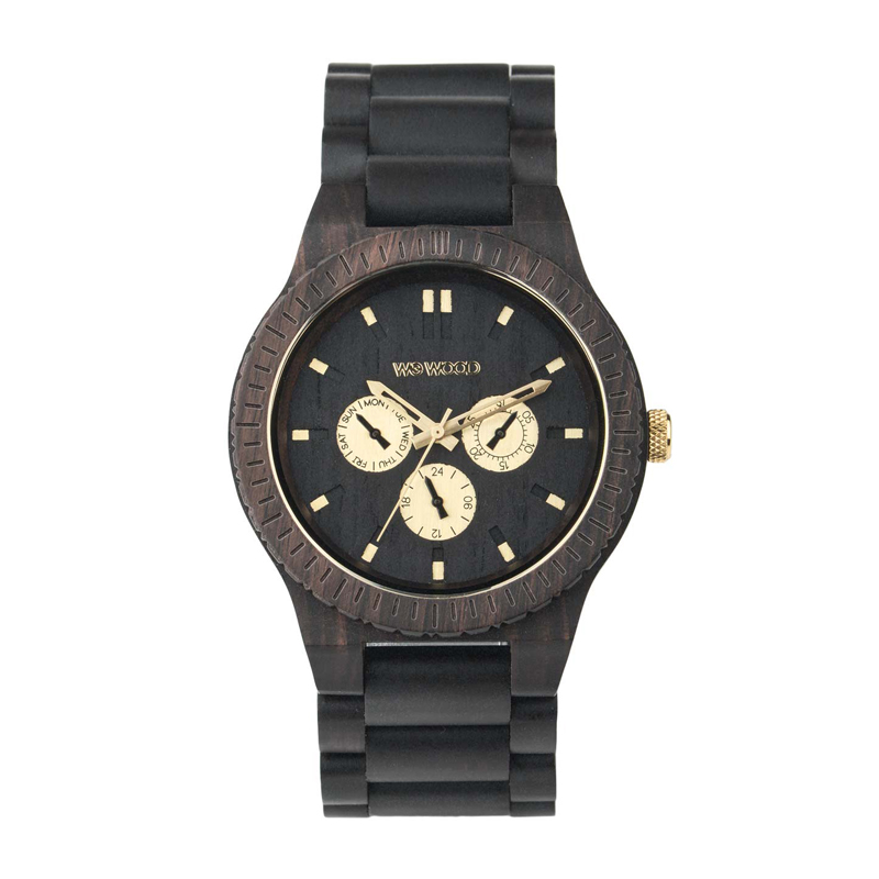 WEWOOD ウィーウッド 正規品 KAPPA BLACK RO 木製腕時計&純正器具セット ベルトコマ調整工具付き NATURAL WOOD ナチュラルウッド ハンドメイド時計 9818054
