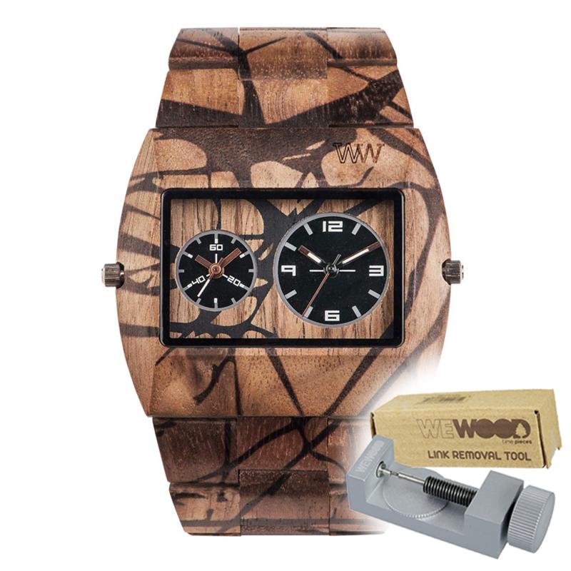 WEWOOD ウィーウッド 正規品 JUPITER NATURE TREE 木製腕時計&純正器具セット ベルトコマ調整工具付き NATURAL WOOD ナチュラルウッド ハンドメイド時計 9818107