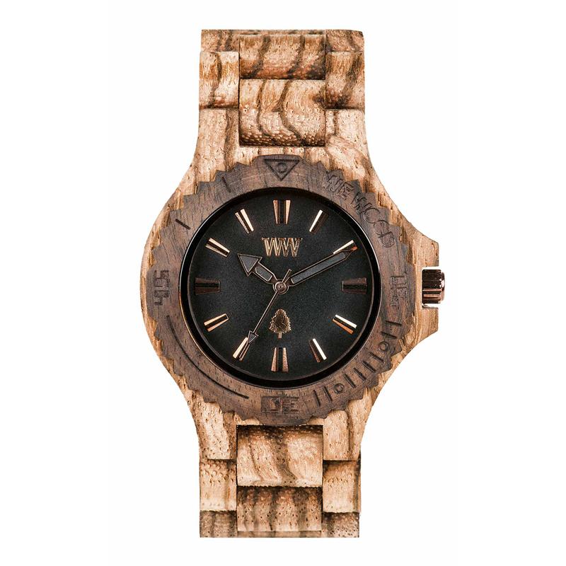 WEWOOD ウィーウッド 正規品 DATE ZEBRANO ROUGH 木製腕時計 NATURAL WOOD ナチュラルウッド ハンドメイド 9818119 【あす楽】