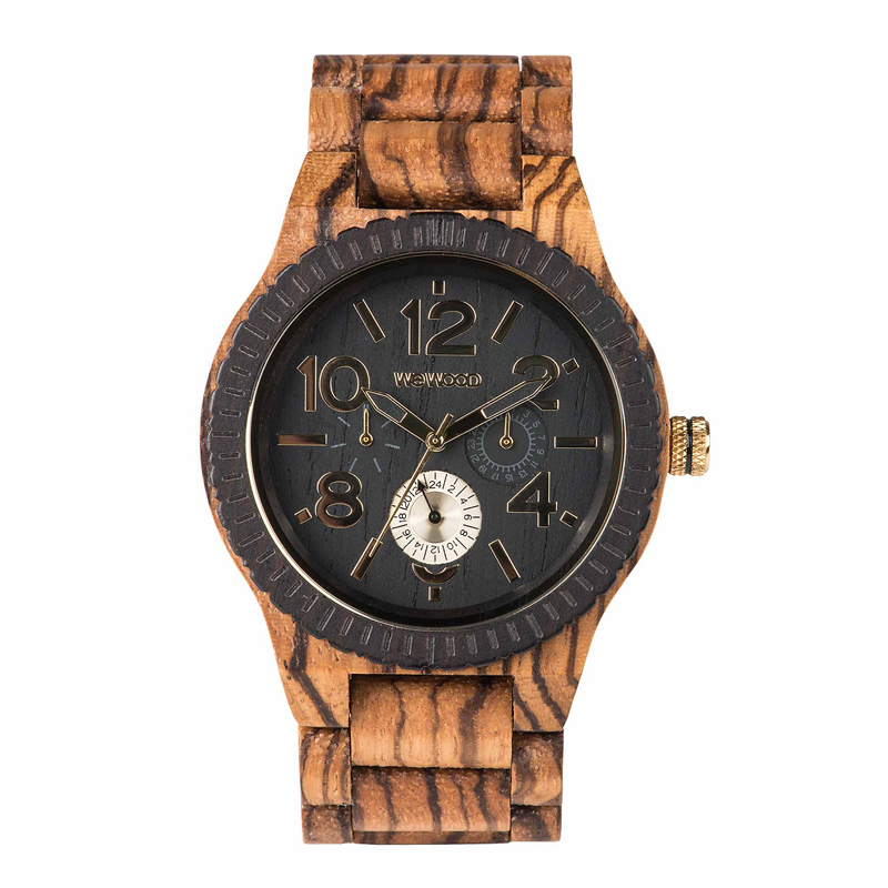 WEWOOD ウィーウッド 正規品 KARDO ZEBRANO CHOCO 木製腕時計 NATURAL WOOD ナチュラルウッド ハンドメイド 9818122 【あす楽】
