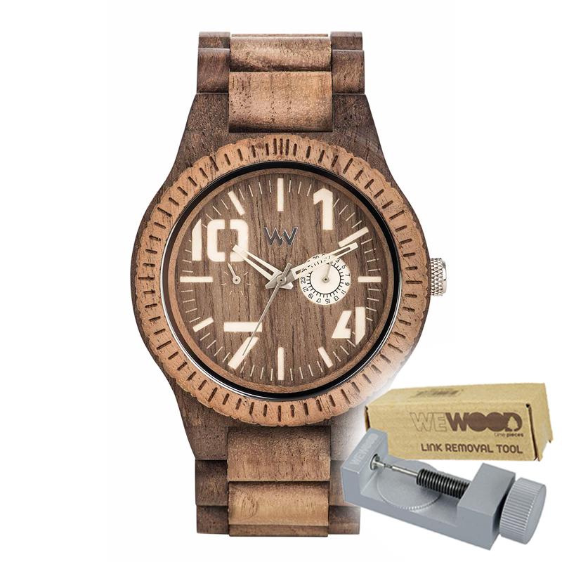 WEWOOD ウィーウッド 正規品 OBLIVIO CHOCO NUT ROUGH 木製腕時計&純正器具セット ベルトコマ調整工具付き NATURAL WOOD ナチュラルウッド ハンドメイド時計 9818124
