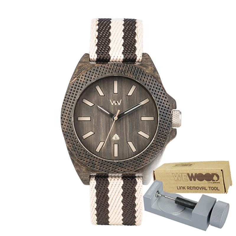 WEWOOD ウィーウッド 正規品 PHOENIX 38 WENGE GREY 木製腕時計&純正器具セット ベルトコマ調整工具付き NATURAL WOOD ナチュラルウッド ハンドメイド時計 9818138