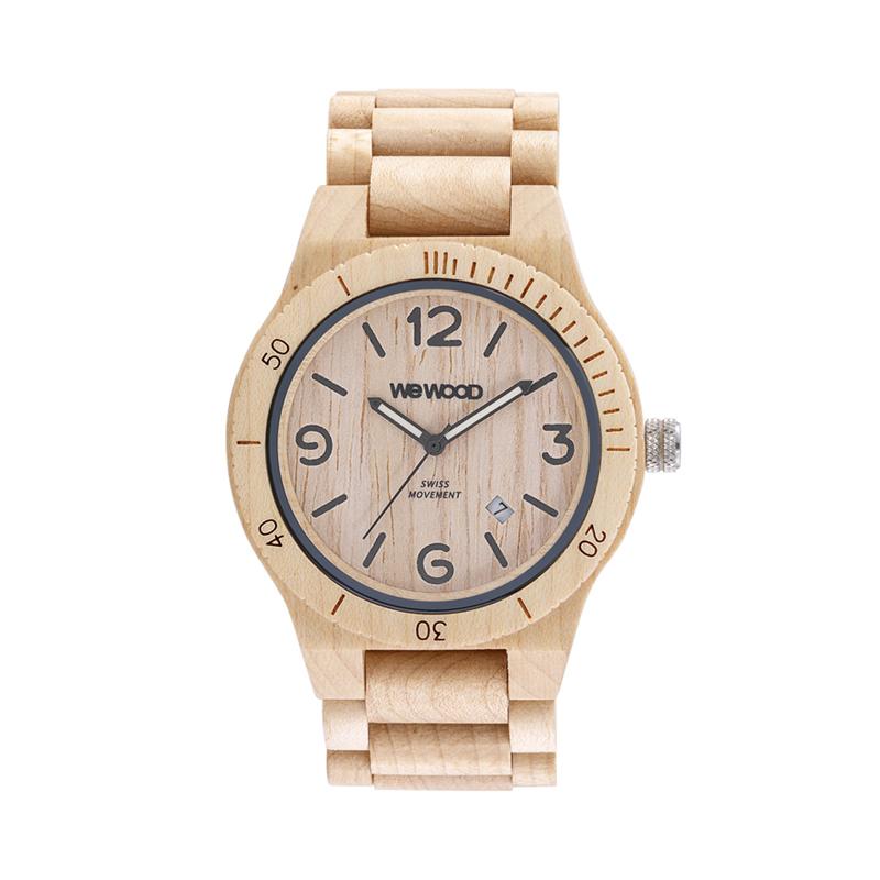 WEWOOD ウィーウッド 正規品 ALPHA SW BEIGE 木製腕時計 NATURAL WOOD ナチュラルウッド ハンドメイド 9818142