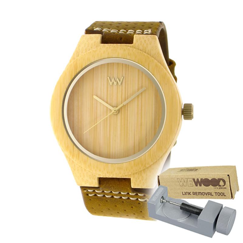 WEWOOD ウィーウッド 正規品 DELLIA 木製腕時計&純正器具セット ベルトコマ調整工具付き NATURAL WOOD ナチュラルウッド ハンドメイド時計 9818156