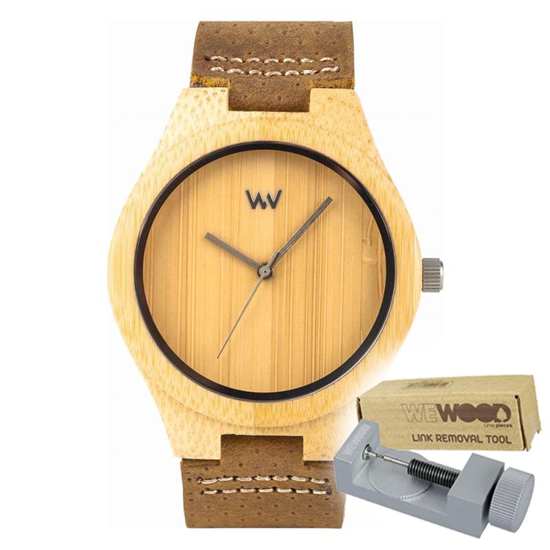 WEWOOD ウィーウッド 正規品 DELLIUM 木製腕時計&純正器具セット ベルトコマ調整工具付き NATURAL WOOD ナチュラルウッド ハンドメイド時計 9818157