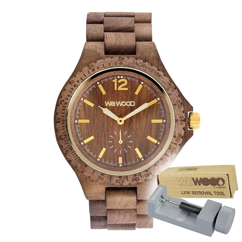 WEWOOD ウィーウッド 正規品 SIKO NUT ROUGH 木製腕時計&純正器具セット ベルトコマ調整工具付き NATURAL WOOD ナチュラルウッド ハンドメイド時計 9818160
