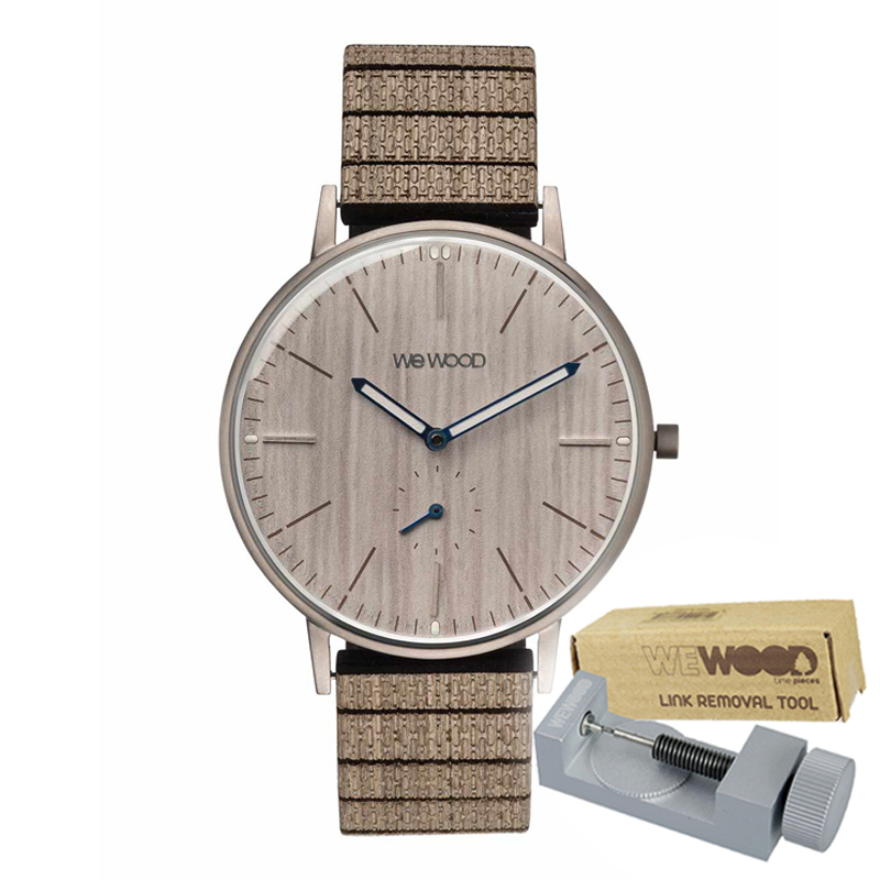 WEWOOD ウィーウッド 正規品 ALBACORE SILVER WT PEAR 木製腕時計&純正器具セット ベルトコマ調整工具付き NATURAL WOOD ナチュラルウッド ハンドメイド時計 9818170
