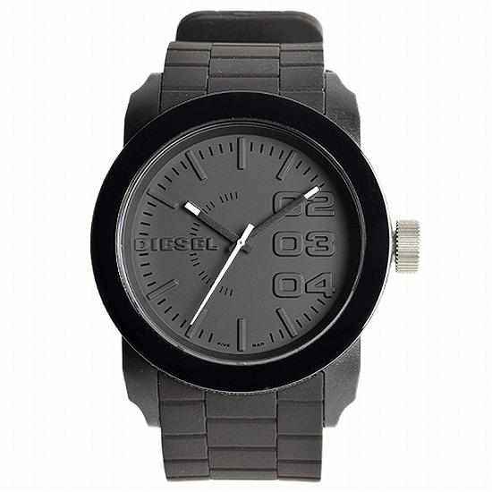 【ペアウォッチ】 DIESEL ディーゼル腕時計ウレタンベルトブラックブラックdz1437dz1437