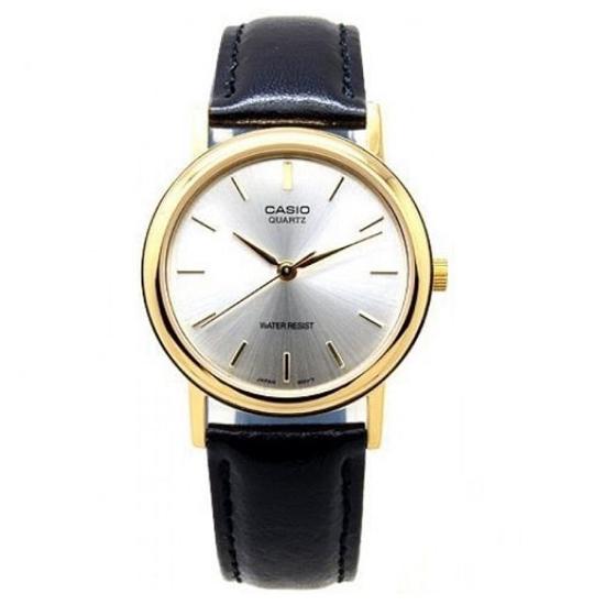 【ペアウォッチ】 CASIO カシオ腕時計レザーベルトゴールド×ブラックゴールド×シルバー×ブラックmtp-1095q-1amtp-1095q-7a ゆうパケット