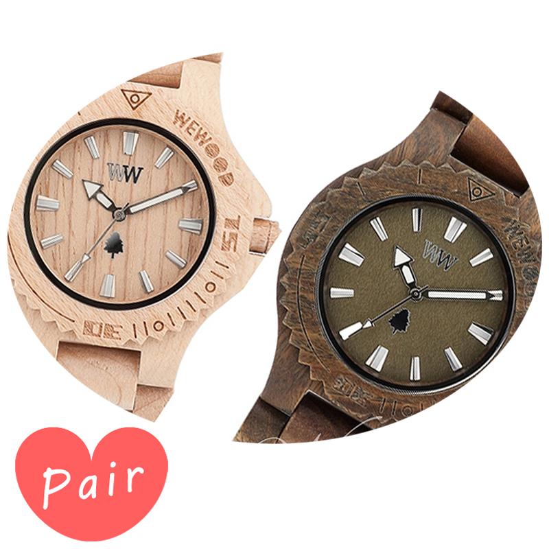 【ペアウォッチ】 WEWOOD ウィーウッド 正規品 腕時計ナチュラルウッド ハンドメイドデイトベージュデイトアーミーwewood-9818025wewood-9818026
