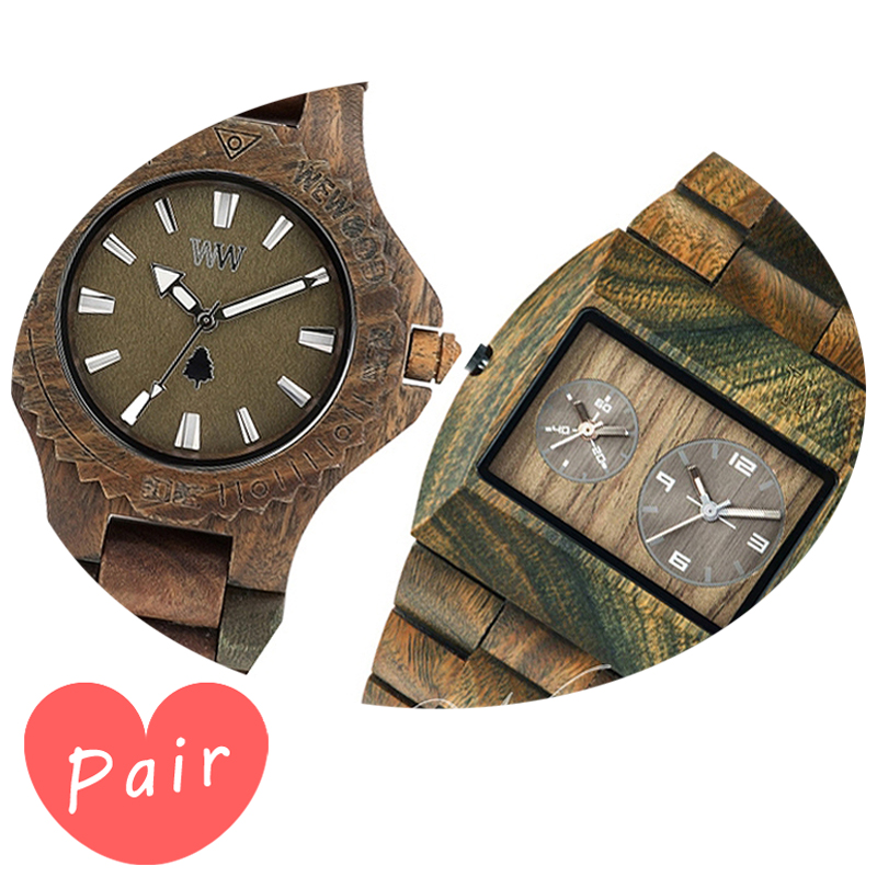 【ペアウォッチ】 WEWOOD ウィーウッド 正規品 腕時計ナチュラルウッド ハンドメイドデイトアーミーアーミーwewood-9818026wewood-9818072