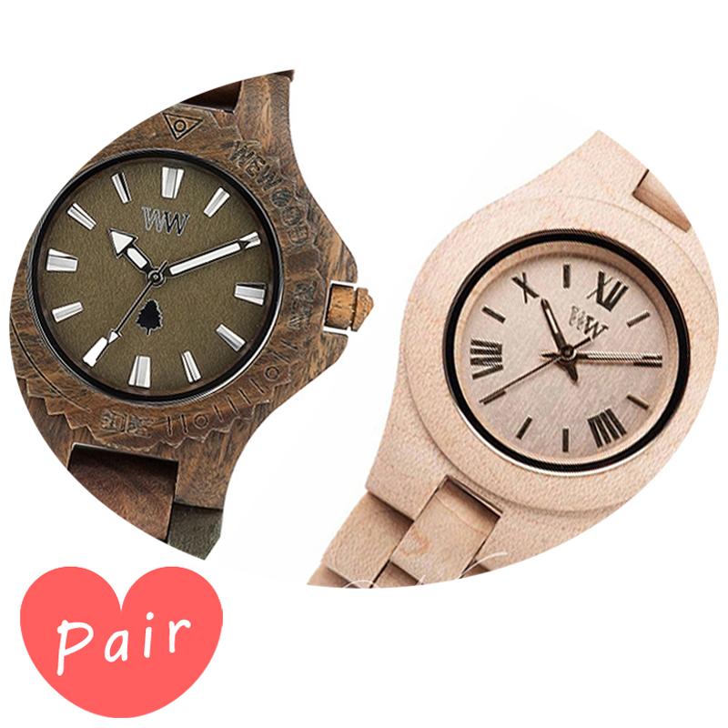 【ペアウォッチ】 【素敵なラッピング付】 WEWOOD ウィーウッド 正規品 腕時計ナチュラルウッド ハンドメイドデイトアーミークリスベージュwewood-9818026wewood-9818044