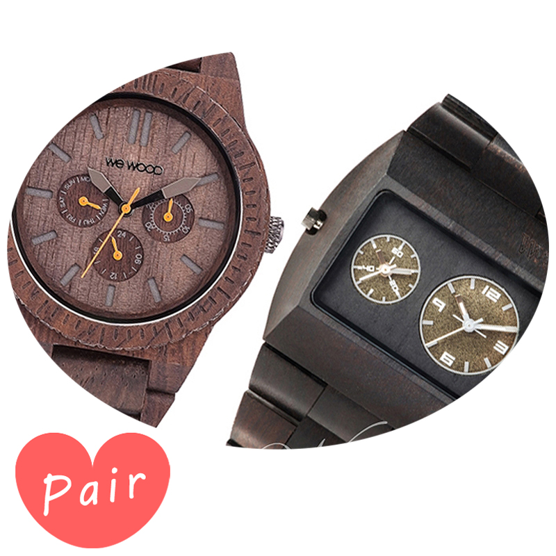 【ペアウォッチ】 【素敵なラッピング付】 WEWOOD ウィーウッド 正規品 腕時計ナチュラルウッド ハンドメイドカッパチョコレートアーミーwewood-9818028wewood-9818072