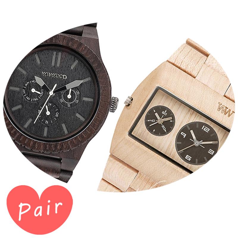 【ペアウォッチ】 WEWOOD ウィーウッド 正規品 腕時計ナチュラルウッド ハンドメイドカッパブラックベージュwewood-9818029wewood-9818071