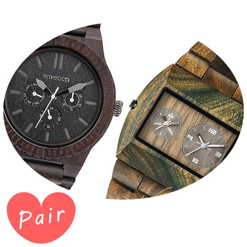 【ペアウォッチ】 【素敵なラッピング付】 WEWOOD ウィーウッド 正規品 腕時計ナチュラルウッド ハンドメイドカッパブラックアーミーwewood-9818029wewood-9818072