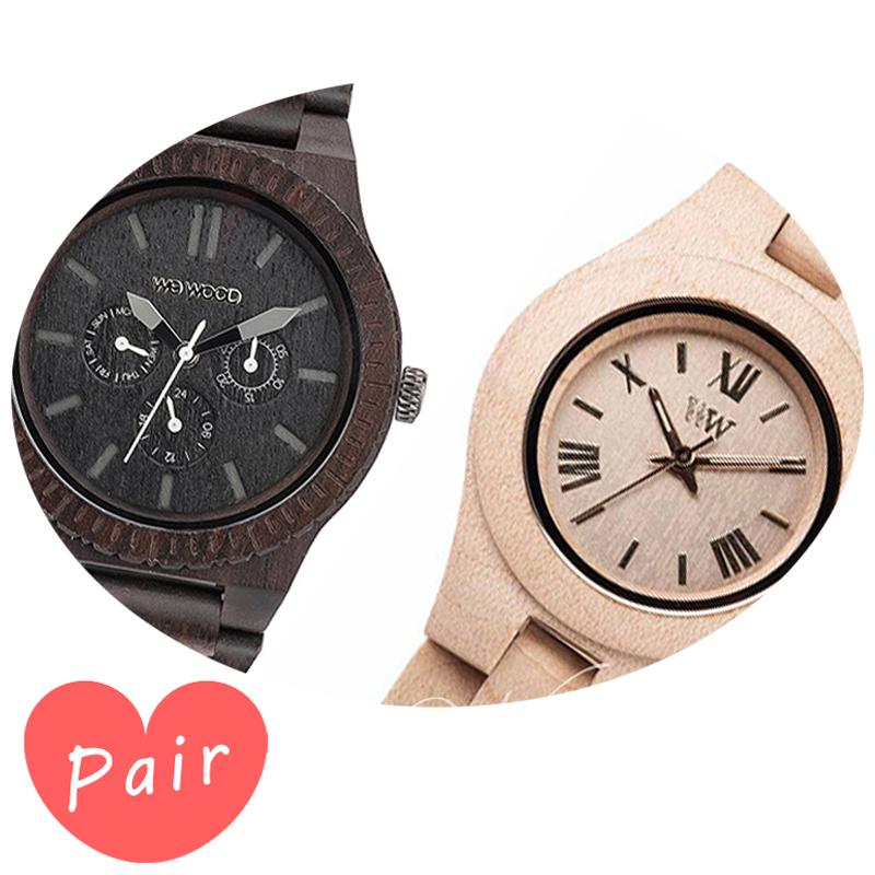 【ペアウォッチ】 WEWOOD ウィーウッド 正規品 腕時計ナチュラルウッド ハンドメイドカッパブラッククリスベージュwewood-9818029wewood-9818044