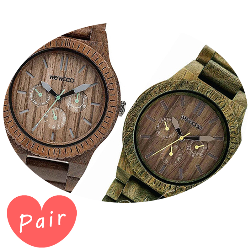【ペアウォッチ】 【素敵なラッピング付】 WEWOOD ウィーウッド 正規品 腕時計ナチュラルウッド ハンドメイドカッパナットカッパアーミーwewood-9818030wewood-9818053