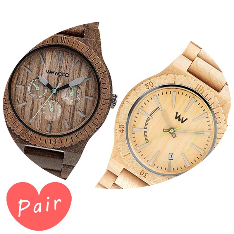 【ペアウォッチ】 【素敵なラッピング付】 WEWOOD ウィーウッド 正規品 腕時計ナチュラルウッド ハンドメイドカッパナットアサントベージュwewood-9818030wewood-9818049