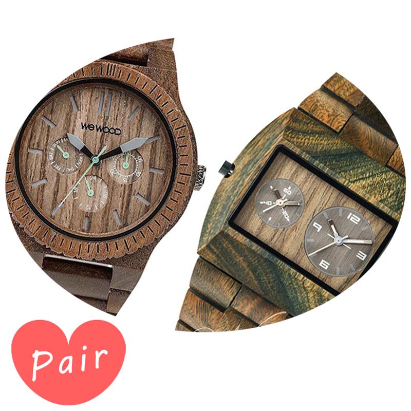 【ペアウォッチ】 【素敵なラッピング付】 WEWOOD ウィーウッド 正規品 腕時計ナチュラルウッド ハンドメイドカッパナットアーミーwewood-9818030wewood-9818072