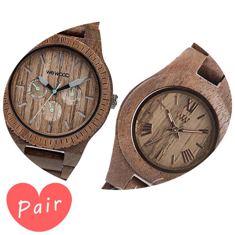 【ペアウォッチ】 WEWOOD ウィーウッド 正規品 腕時計ナチュラルウッド ハンドメイドカッパナットクリスナットwewood-9818030wewood-9818034