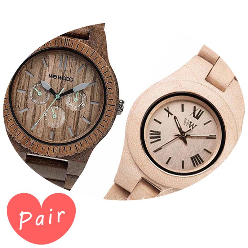 【ペアウォッチ】 【素敵なラッピング付】 WEWOOD ウィーウッド 正規品 腕時計ナチュラルウッド ハンドメイドカッパナットクリスベージュwewood-9818030wewood-9818044