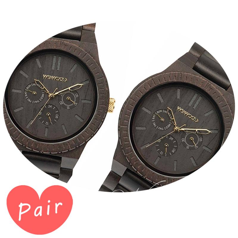 【ペアウォッチ】 【素敵なラッピング付】 WEWOOD ウィーウッド 正規品 腕時計ナチュラルウッド ハンドメイドカッパブラック/ゴールドカッパブラック/ゴールドwewood-9818031wewood-9818031