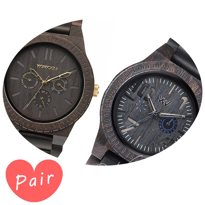 【ペアウォッチ】 【素敵なラッピング付】 WEWOOD ウィーウッド 正規品 腕時計ナチュラルウッド ハンドメイドカッパブラック/ゴールドオブリビオブラック/ブルーwewood-9818031wewood-9818081