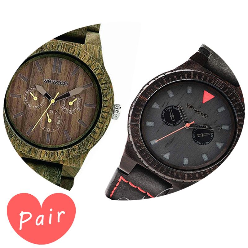 【ペアウォッチ】 WEWOOD ウィーウッド 正規品 腕時計ナチュラルウッド ハンドメイドカッパアーミーレオテッラブラックwewood-9818053wewood-9818094