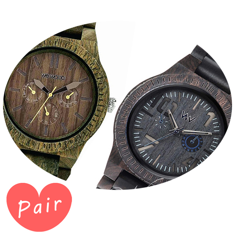 【ペアウォッチ】 【素敵なラッピング付】 WEWOOD ウィーウッド 正規品 腕時計ナチュラルウッド ハンドメイドカッパアーミーオブリビオブラック/ブルーwewood-9818053wewood-9818081