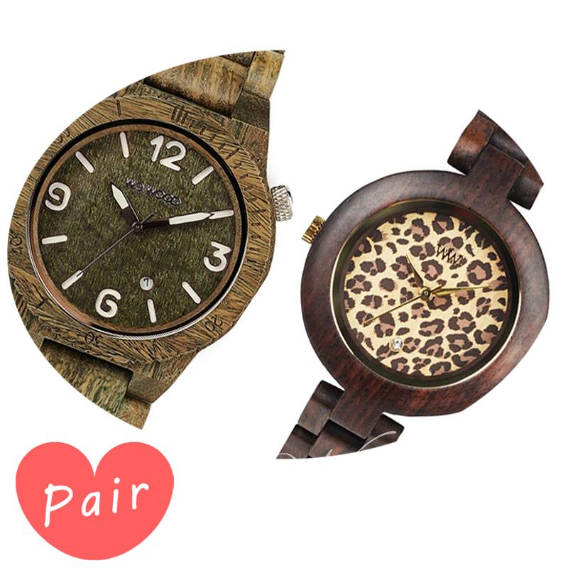 【ペアウォッチ】 【素敵なラッピング付】 WEWOOD ウィーウッド 正規品 腕時計ナチュラルウッド ハンドメイドアルファアーミーパルドゥスチョコレートwewood-9818069wewood-9818076