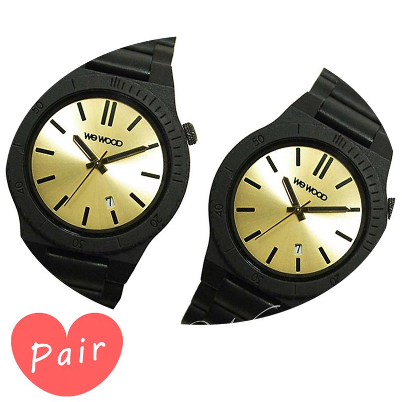 【ペアウォッチ】 WEWOOD ウィーウッド 正規品 腕時計ナチュラルウッド ハンドメイドアローブラック/ゴールドアローブラック/ゴールドwewood-9818085wewood-9818085