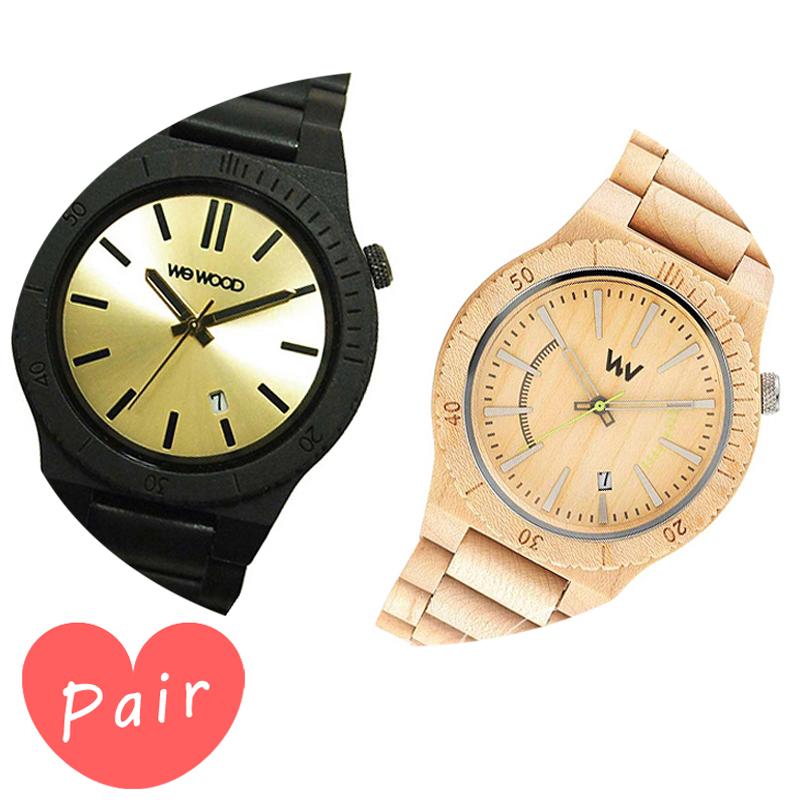 【ペアウォッチ】 WEWOOD ウィーウッド 正規品 腕時計ナチュラルウッド ハンドメイドアローブラック/ゴールドアサントベージュwewood-9818085wewood-9818049