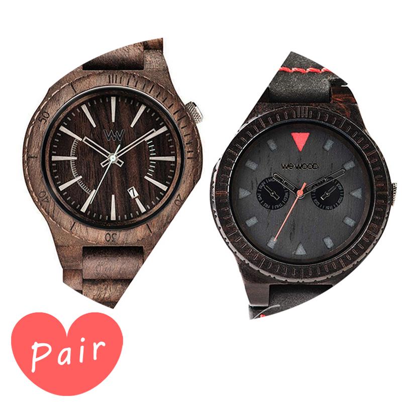 【ペアウォッチ】 WEWOOD ウィーウッド 正規品 腕時計ナチュラルウッド ハンドメイドアサントチョコラフレオテッラブラックwewood-9818086wewood-9818094