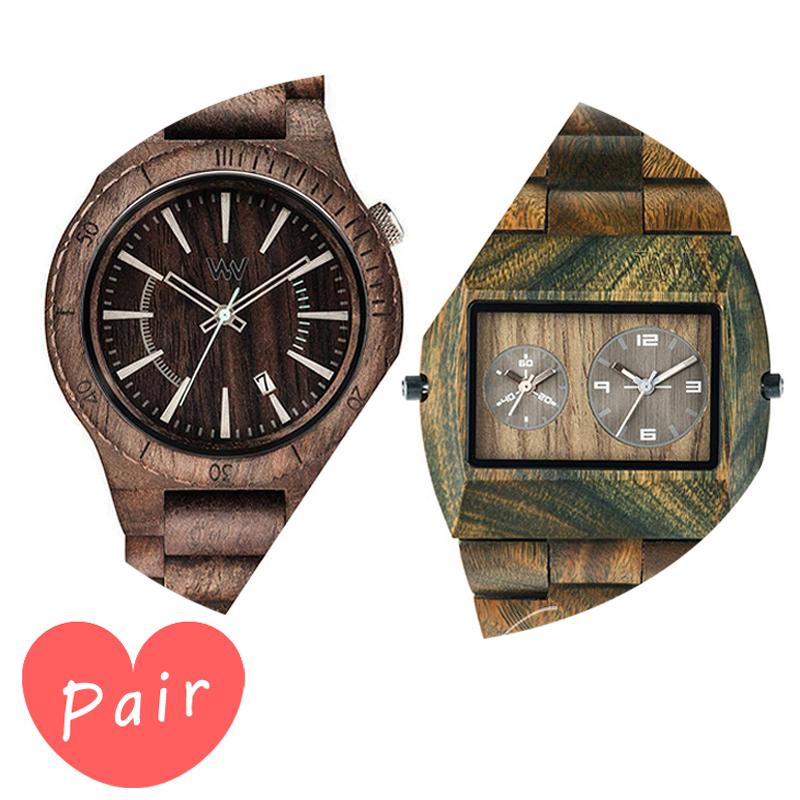 【ペアウォッチ】 【素敵なラッピング付】 WEWOOD ウィーウッド 正規品 腕時計ナチュラルウッド ハンドメイドアサントチョコラフアーミーwewood-9818086wewood-9818072