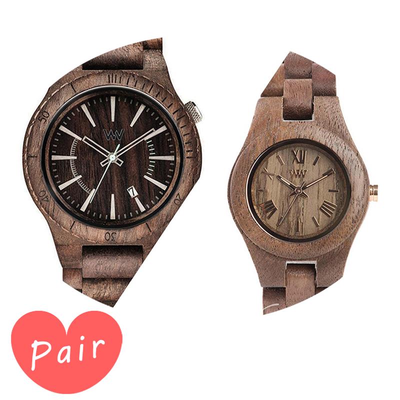 【ペアウォッチ】 【素敵なラッピング付】 WEWOOD ウィーウッド 正規品 腕時計ナチュラルウッド ハンドメイドアサントチョコラフクリスナットwewood-9818086wewood-9818034