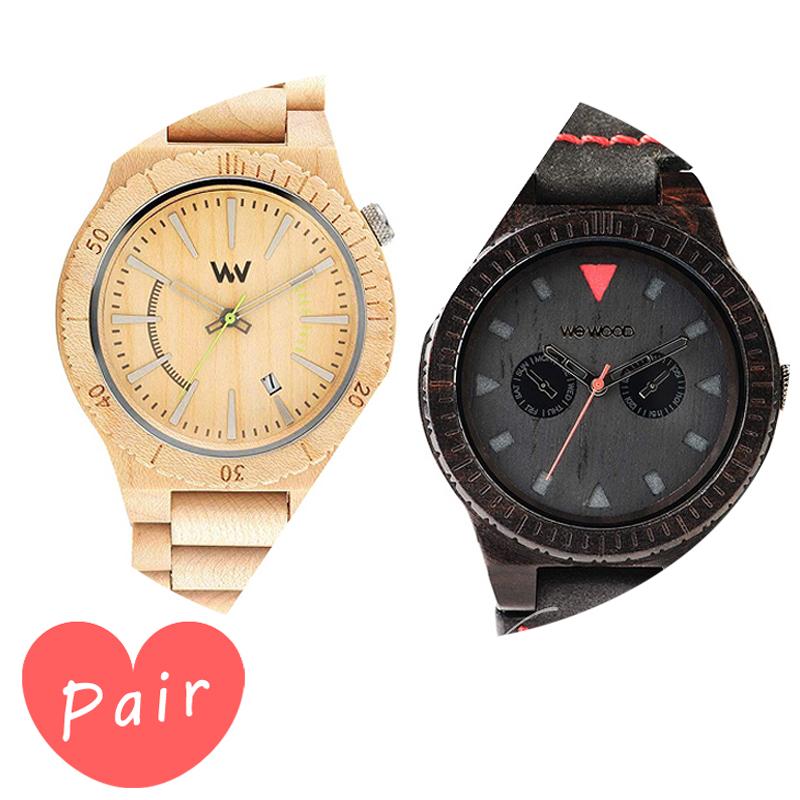 【ペアウォッチ】 【素敵なラッピング付】 WEWOOD ウィーウッド 正規品 腕時計ナチュラルウッド ハンドメイドアサントベージュレオテッラブラックwewood-9818049wewood-9818094