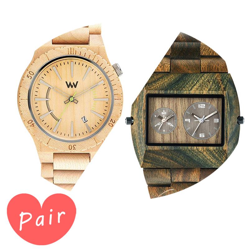 【ペアウォッチ】 【素敵なラッピング付】 WEWOOD ウィーウッド 正規品 腕時計ナチュラルウッド ハンドメイドアサントベージュアーミーwewood-9818049wewood-9818072 木 プレゼント ギフト 記念日 記念 お祝い ラッピング