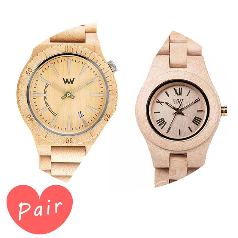 【ペアウォッチ】 【素敵なラッピング付】 WEWOOD ウィーウッド 正規品 腕時計ナチュラルウッド ハンドメイドアサントベージュクリスベージュwewood-9818049wewood-9818044