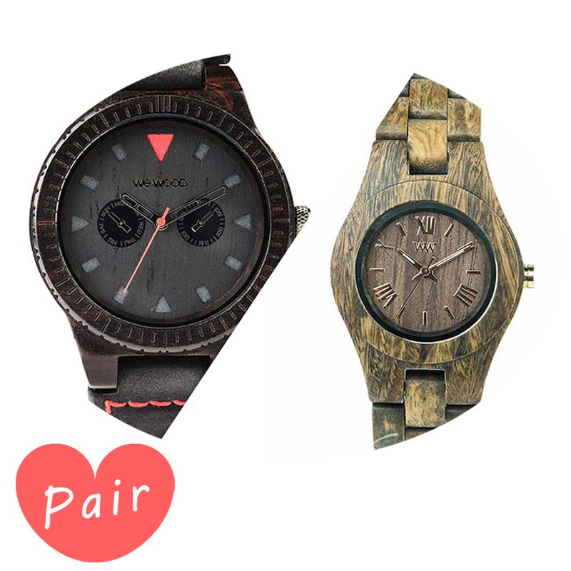【ペアウォッチ】 WEWOOD ウィーウッド 正規品 腕時計ナチュラルウッド ハンドメイドレオテッラブラッククリスアーミーwewood-9818094wewood-9818033