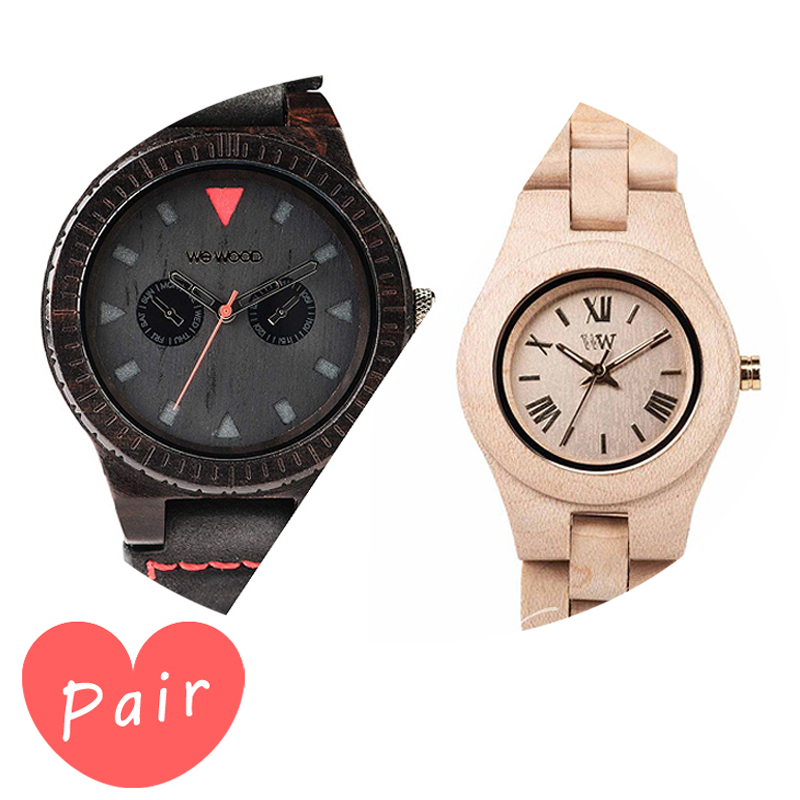 【ペアウォッチ】 【素敵なラッピング付】 WEWOOD ウィーウッド 正規品 腕時計ナチュラルウッド ハンドメイドレオテッラブラッククリスベージュwewood-9818094wewood-9818044
