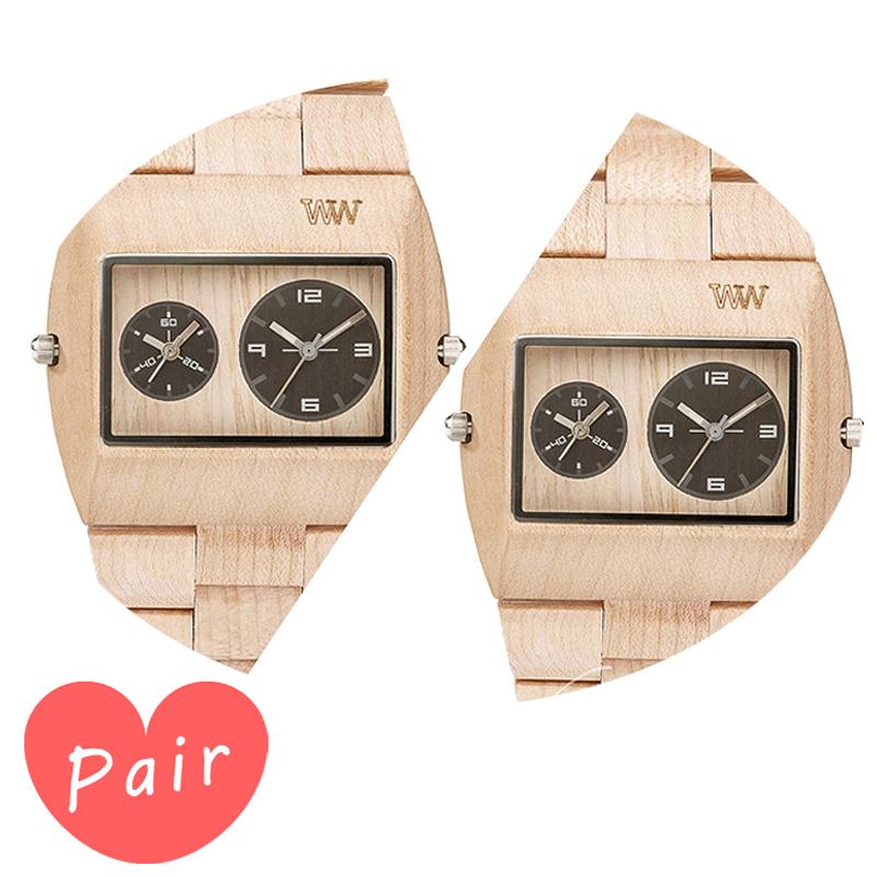 【ペアウォッチ】 【素敵なラッピング付】 WEWOOD ウィーウッド 正規品 腕時計ナチュラルウッド ハンドメイドベージュベージュwewood-9818071wewood-9818071