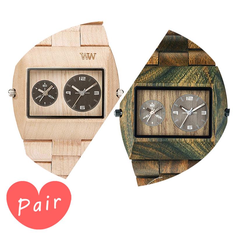 【ペアウォッチ】 【素敵なラッピング付】 WEWOOD ウィーウッド 正規品 腕時計ナチュラルウッド ハンドメイドベージュアーミーwewood-9818071wewood-9818072