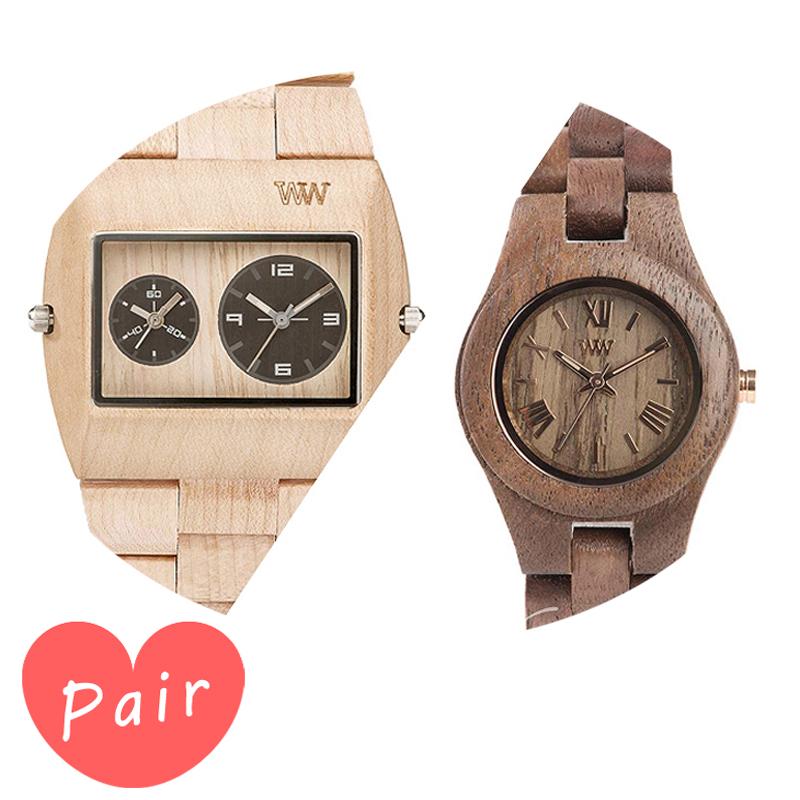 【ペアウォッチ】 WEWOOD ウィーウッド 正規品 腕時計ナチュラルウッド ハンドメイドベージュクリスナットwewood-9818071wewood-9818034