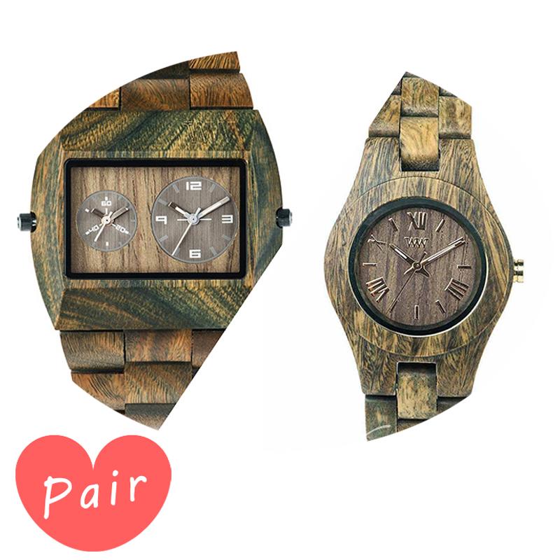 【ペアウォッチ】 WEWOOD ウィーウッド 正規品 腕時計ナチュラルウッド ハンドメイドアーミークリスアーミーwewood-9818072wewood-9818033