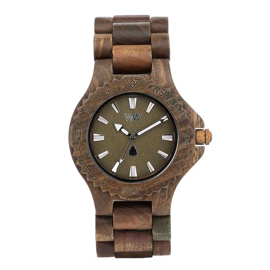 【ペアウォッチ】 WEWOOD ウィーウッド 正規品 腕時計ナチュラルウッド ハンドメイドデイトアーミークリスナットwewood-9818026wewood-9818034